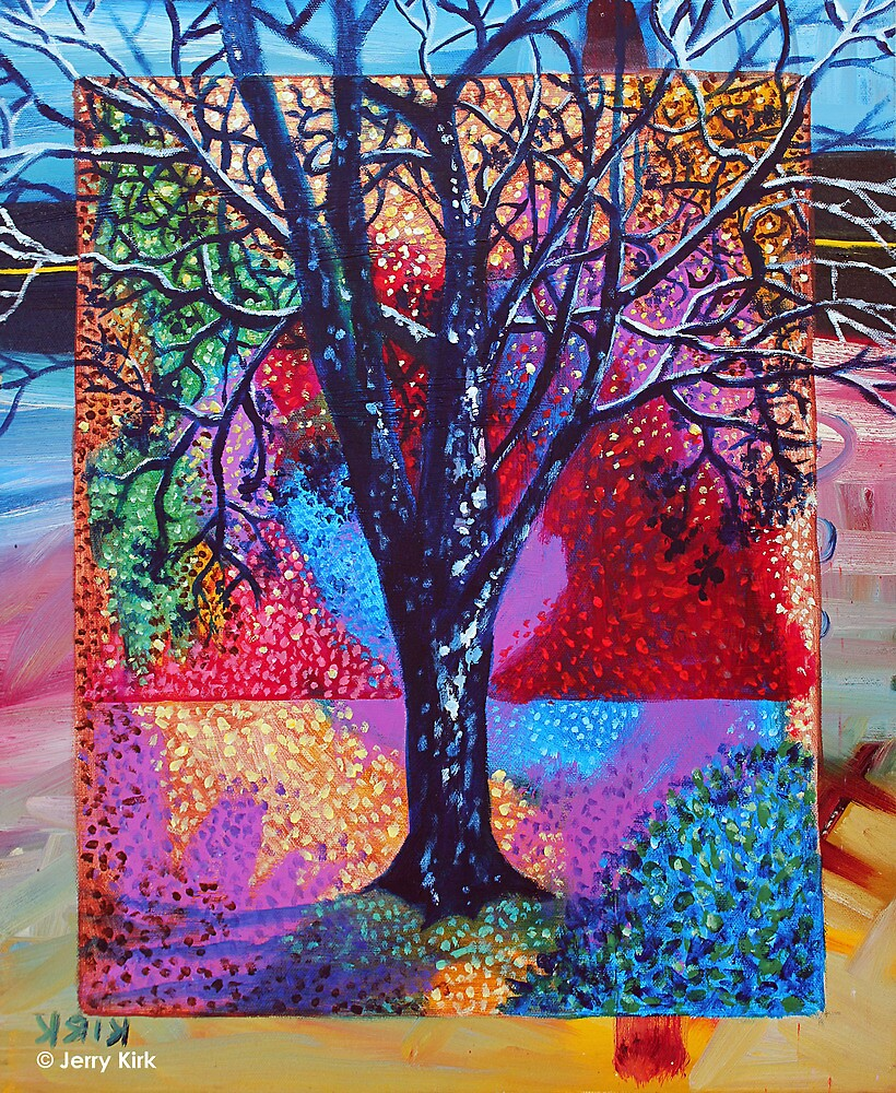 'Tree in a Field of Color' by Jerry Kirk