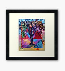 'Tree in a Field of Color' Framed Print