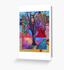 'Tree in a Field of Color' Greeting Card