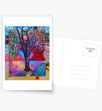'Tree in a Field of Color' Postcards