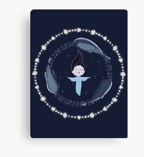 Song of the Sea - Selkie and seals Canvas Print