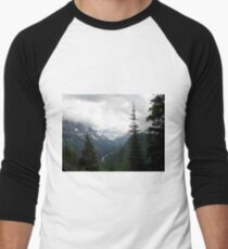 VIEW OF HEAVEN - GLACIER NATIONAL PARK Men's Baseball ¾ T-Shirt