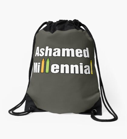 Ashamed Millennial Drawstring Bag