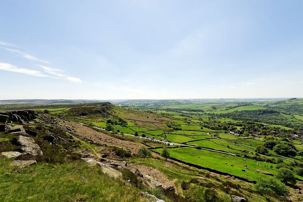 Baslow Edge and The Derwent Valley by Rod Johnson