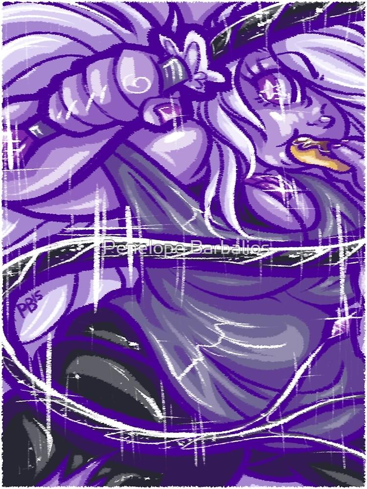 Painted Amethyst by Penelope Barbalios