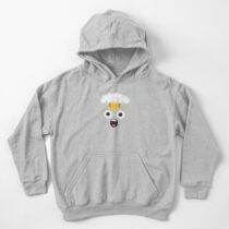 emoji: Exploding face Kids Pullover Hoodie