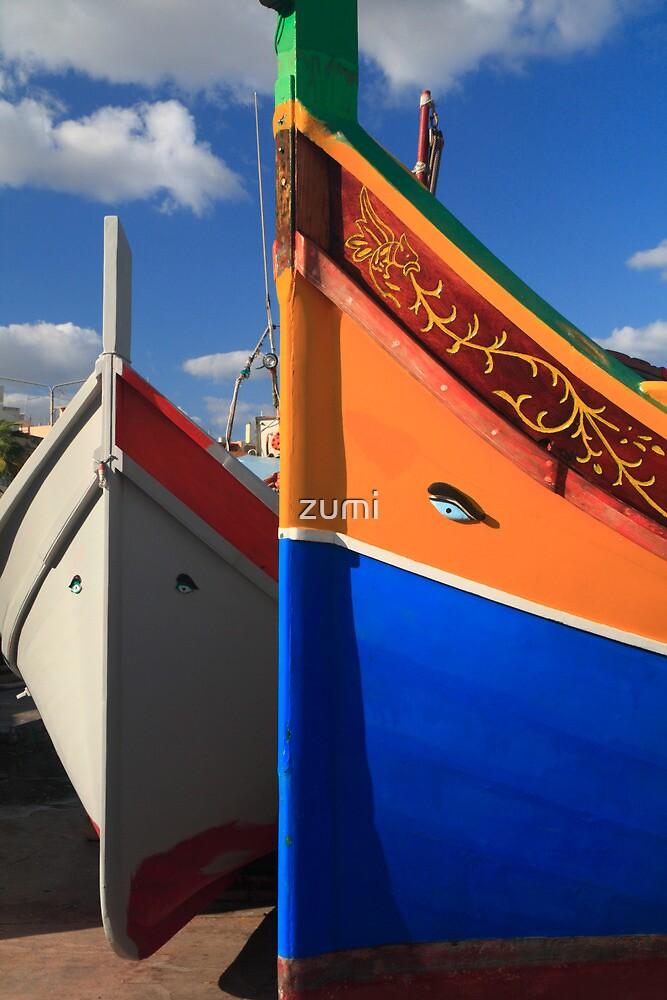 Maltese boats by zumi