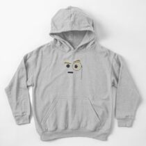 Emoji: Face with monocle Kids Pullover Hoodie