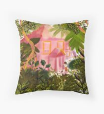 A house in the Lao jungle Throw Pillow