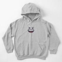 Emoji: Grinning face Kids Pullover Hoodie