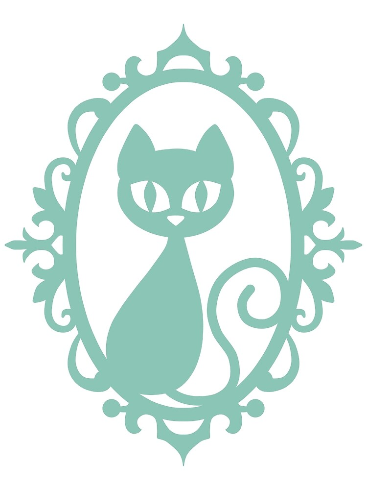 Teal Cat by DeliriumLina