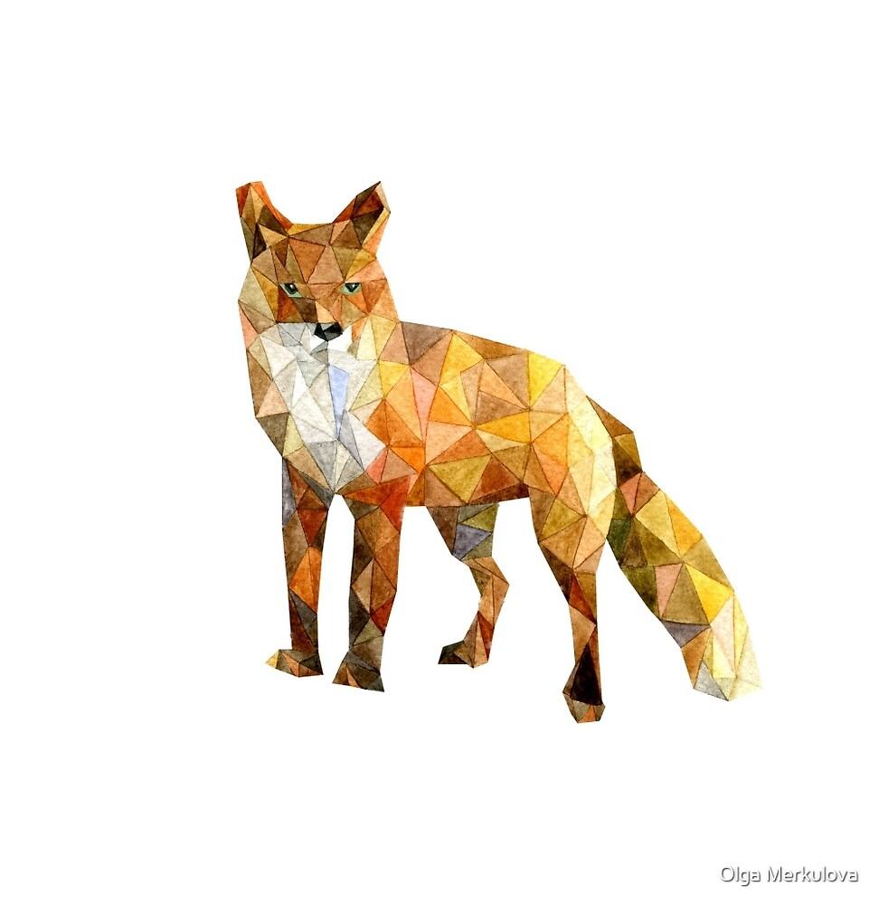 red fox by Olga Merkulova