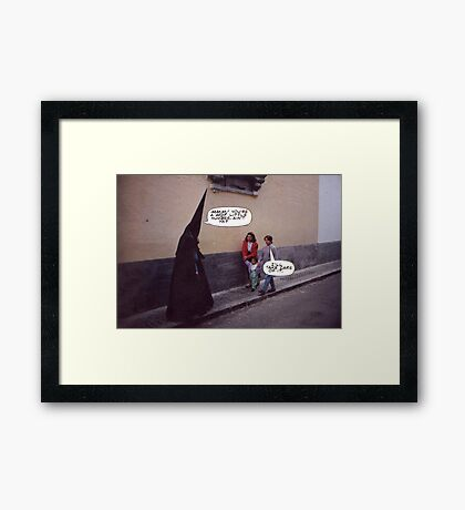 M Blackwell - Because the Costume's Just Not Scary Enough... Framed Print