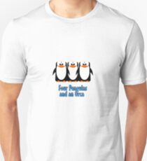 Four Penguins .... and an orca Unisex T-Shirt