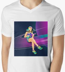 Pearl of Saturn by #Bizzartino V-Neck T-Shirt