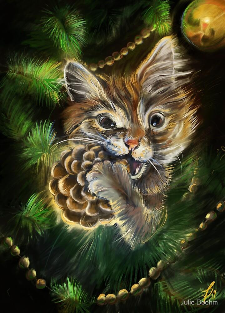 Christmas cat by Julie Boehm