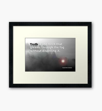 fog and truth Framed Print