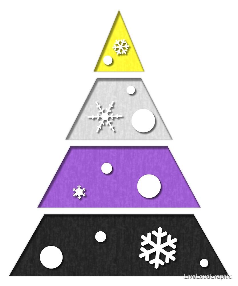 Non-Binary Xmas Tree by LiveLoudGraphic