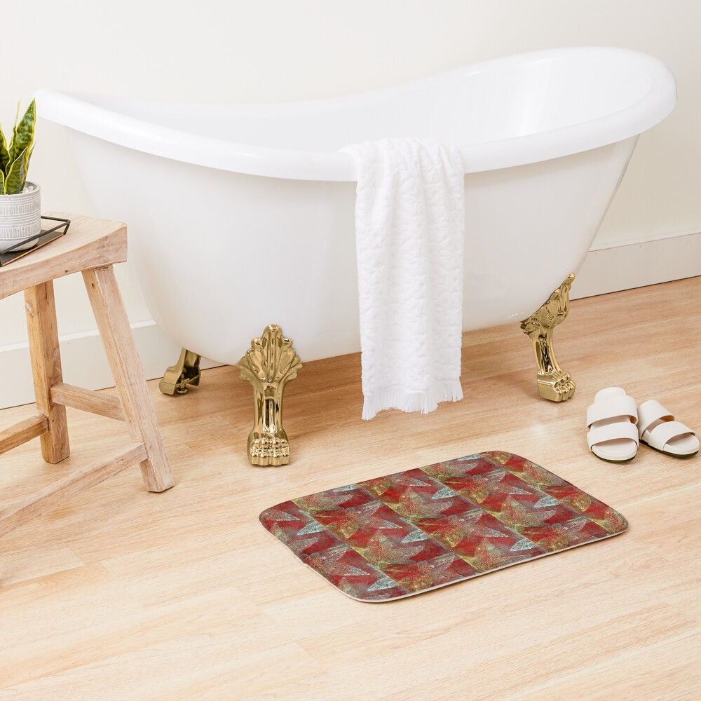 Tapestry of leaves Bath Mat