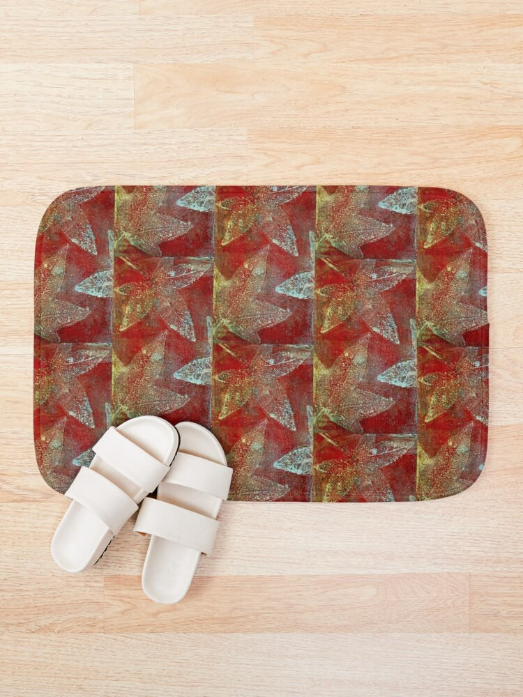 Alternate view of Tapestry of leaves Bath Mat