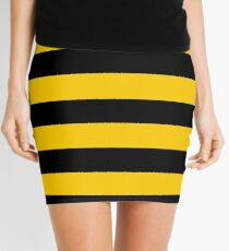 Bee pattern black and yellow stripes Mini Skirt
