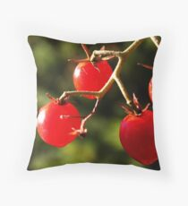 Cherry Tomato! Throw Pillow