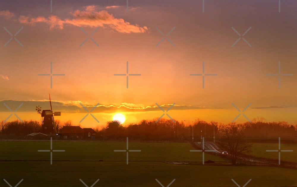 Sunset over Sarre by Geoff Carpenter