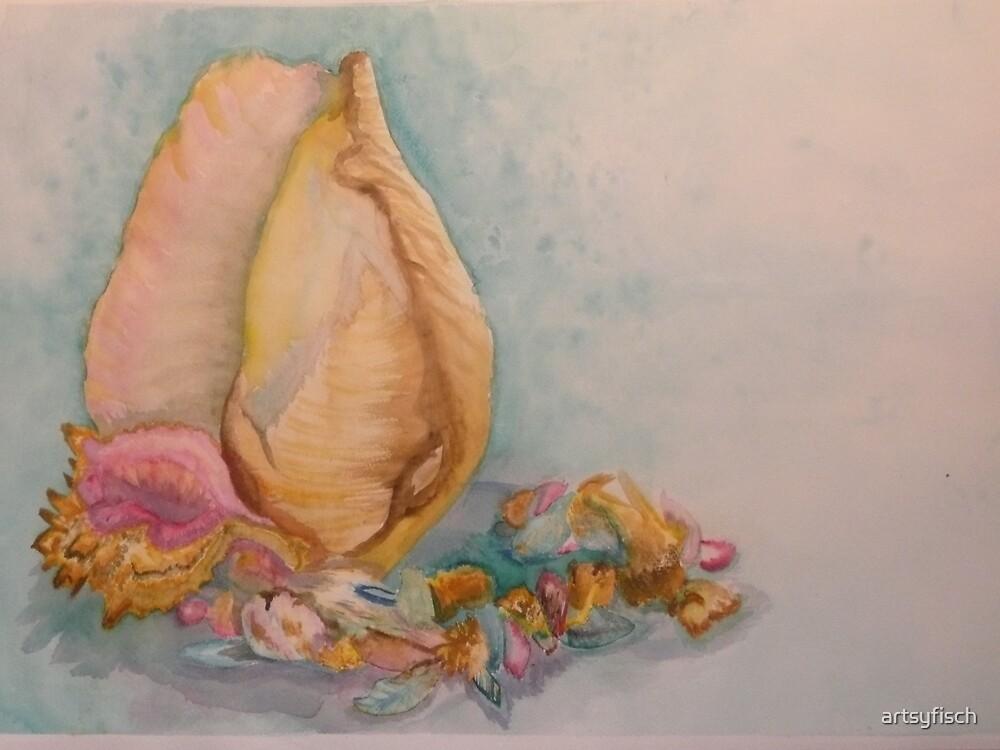Shell Still Life by artsyfisch