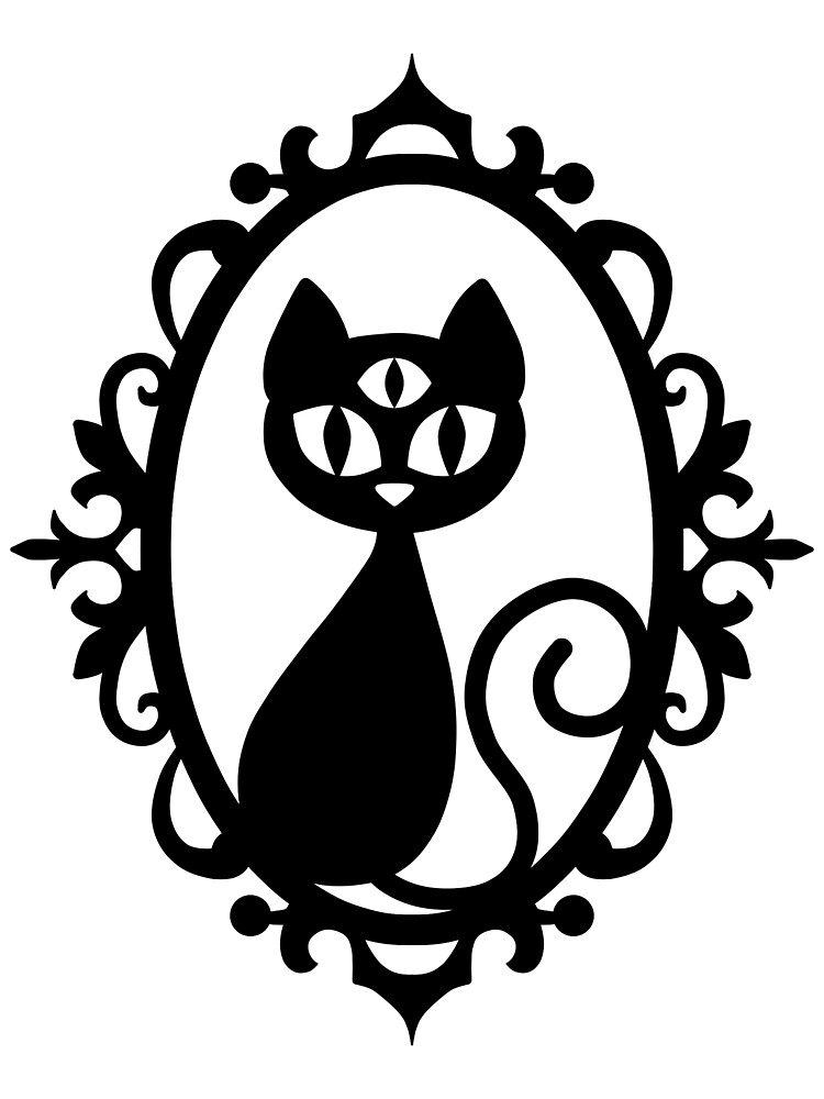 Black Triclops Cat by DeliriumLina