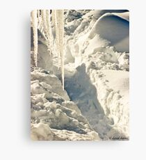 Icicles and Trenches Canvas Print