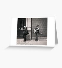 New York City: Two people together apart Greeting Card