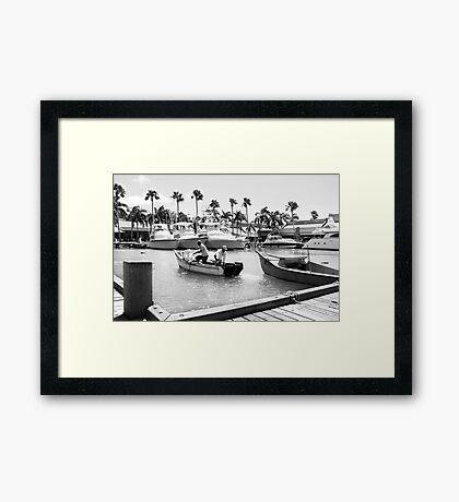 Aruba Marina Framed Print