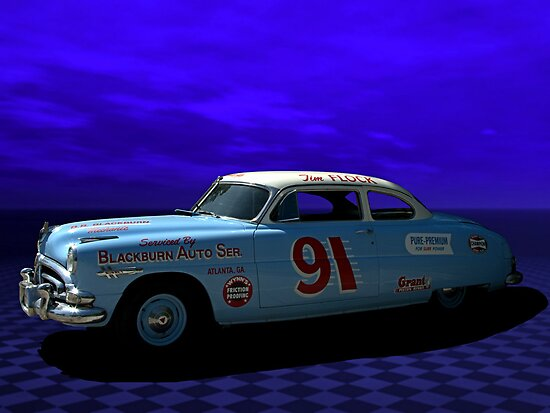 1952 Hudson Hornet Tribute Quot Race Car Quot Posters By Teemack