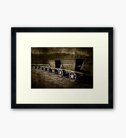 Ore Wagons Framed Print