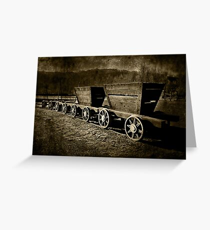 Ore Wagons Greeting Card