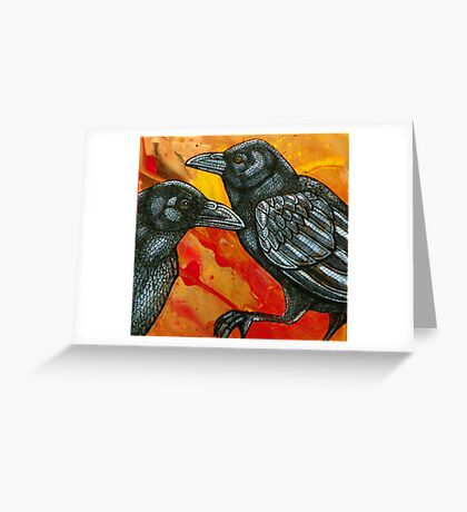 One for Sorrow, Two for Joy Greeting Card