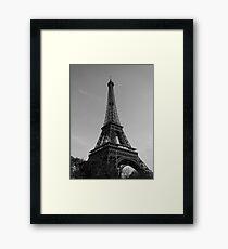 Eiffel Tower Black & White (Paris) Framed Print