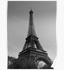 Eiffel Tower Black & White (Paris) Poster