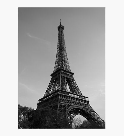 Eiffel Tower Black & White (Paris) Photographic Print