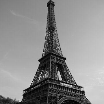 Eiffel Tower Black & White (Paris) by MathieuLongvert