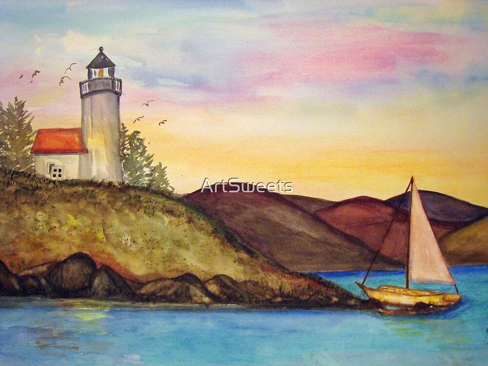 Sailing takes me away to where I'm going.... by Loretta Barra