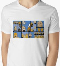 Fun Times - Blue Men's V-Neck T-Shirt