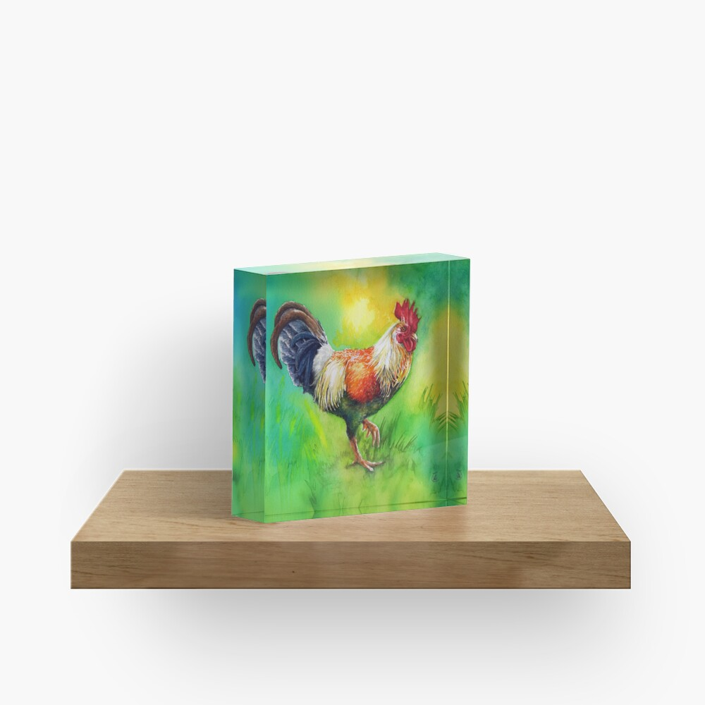 Rooster Strut Acrylic Block