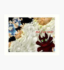 Marshmallow Cream and Butterscotch Flood Art Print