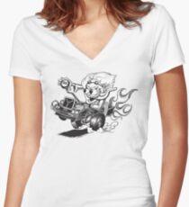 Doc Fink Women's Fitted V-Neck T-Shirt