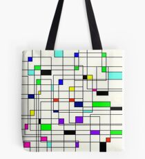 Geometric Squares Tote Bag