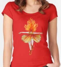 Girl on fire by Studinano Women's Fitted Scoop T-Shirt