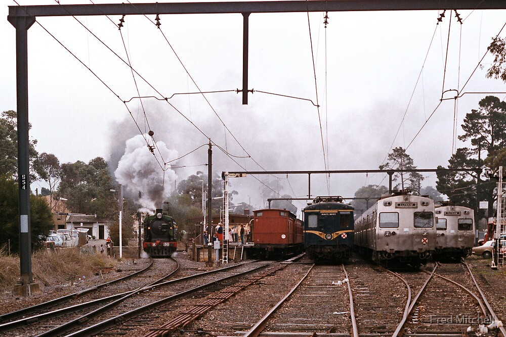1970s K190 excursion train at Eltham by Fred Mitchell