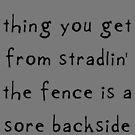 Fence-sitting by Etakeh