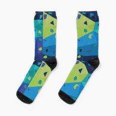 Boulder Wall (Blue and Green) Socks